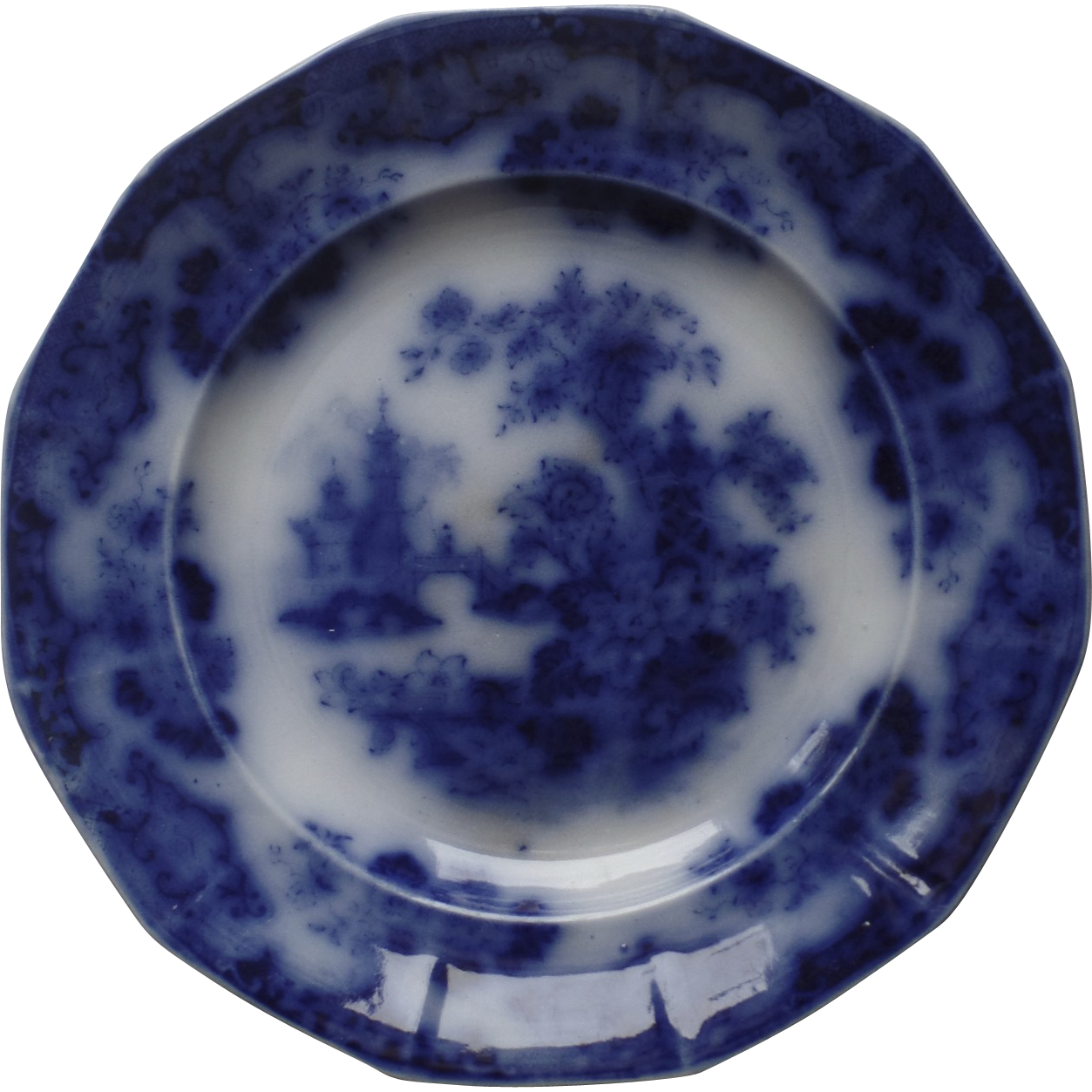 C flow blue plate sobraon by samuel alcock