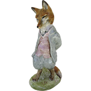 "Vintage BESWICK-Beatrix Potter ""Foxy Whiskered Gentleman""  Figurine figure Brown Backstamp 1954 F. Warne"