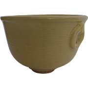 Vintage Glazed Yellow Garden Pot