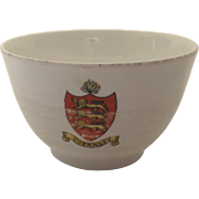Charming Small Guernsey Island Bowl Shield Crest