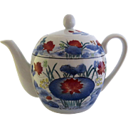 Vintage Grande Cuisine Williams Sonoma Chinese Motif Teapot Made in China