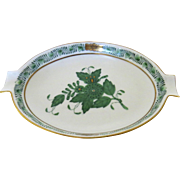 Vintage Herend Green Apponyi Chinese Bouquet Ashtray Dish Pin Trinket