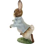 Vintage Beautiful Beatrix Potter Beswick Peter Rabbit Figurine Brown Backstamp
