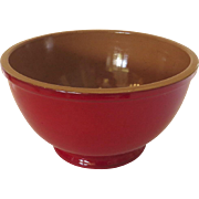 Vintage Thick True Red Glaze Italy Italian Terra Cotta Bowl