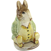 "Vintage Beswick Beatrix Potter ""SAMUEL WHISKERS"" Porcelain Character Figurine Brown Backstamp"