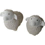 Vintage Large and Small English Ceramic Garden Sheep
