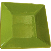 "Fun Factory Freestyle Kiwi Green by Waechtersbach Vibrant Glaze Square 7"" Plate"