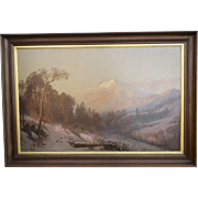 Oil on Canvas by J. E. Stuart
