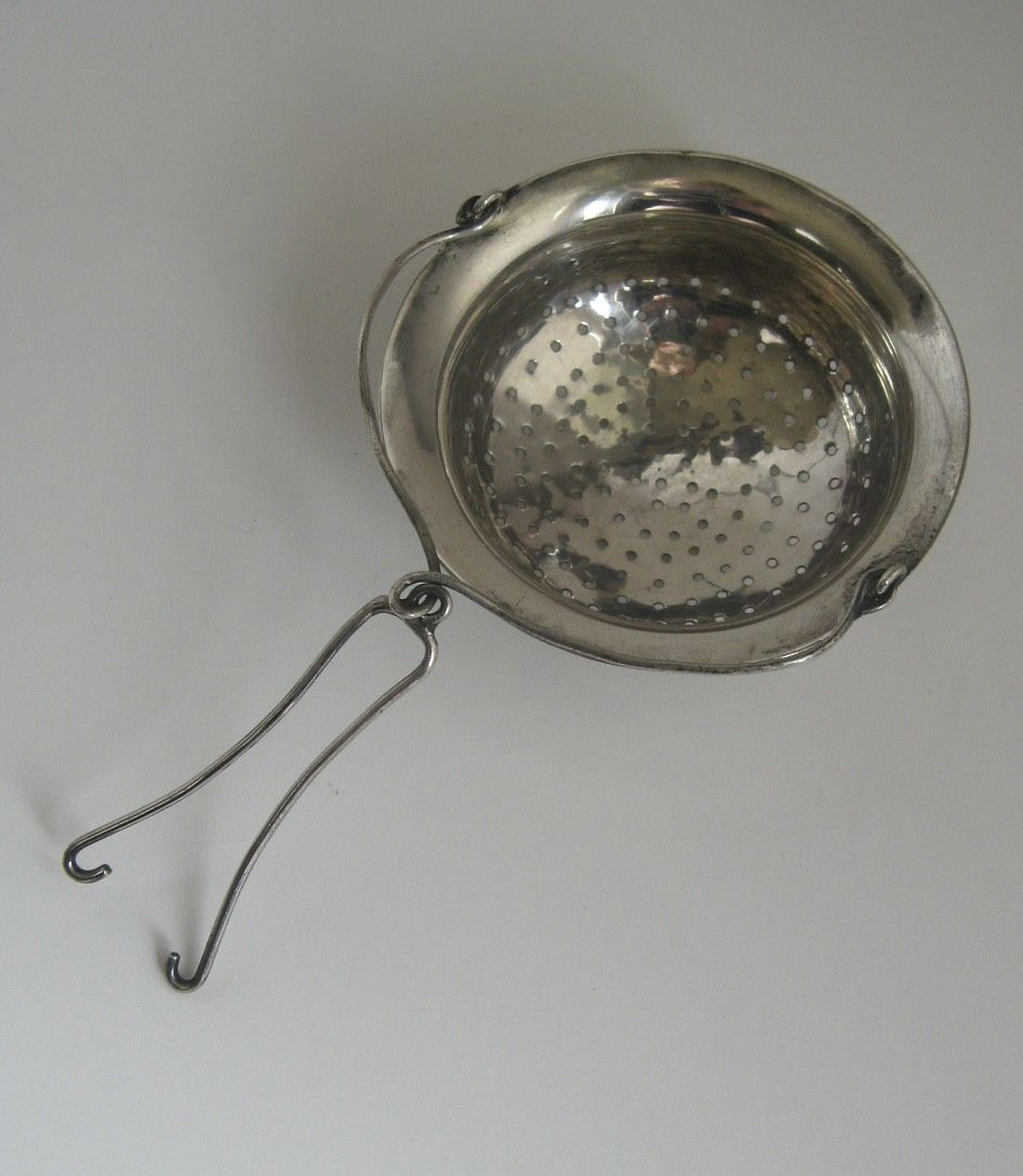 Silver tea pot strainer from blacktulip on ruby lane