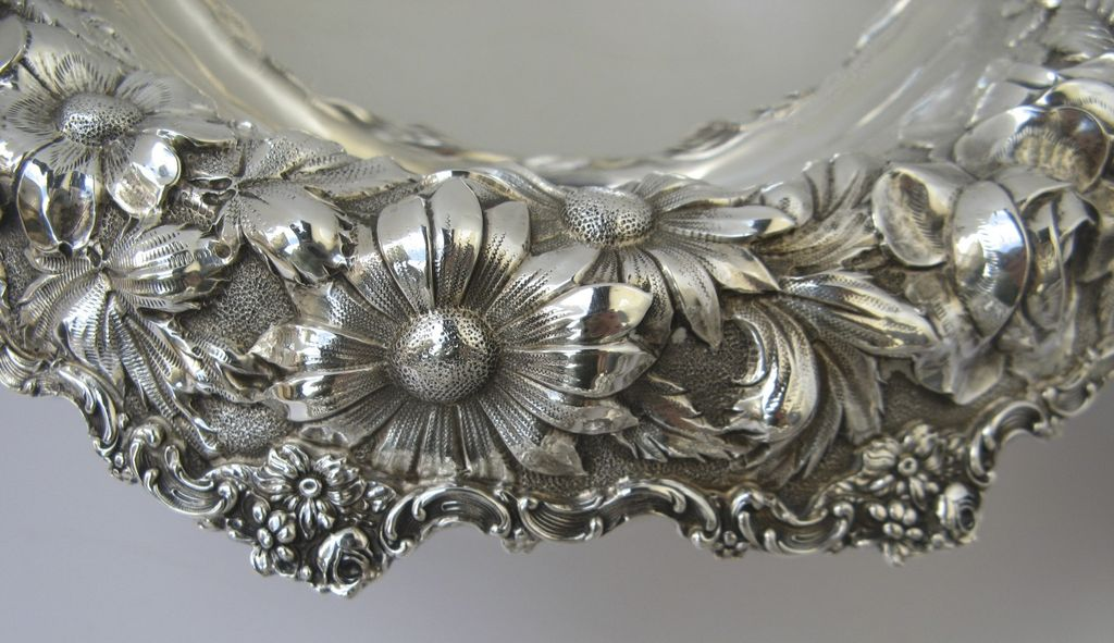 Set of Four Sterling Repousse Compotes by Stieff c 1920's