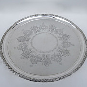 Beautiful Sheffield Footed Tray by A.J. Beardshaw& CO