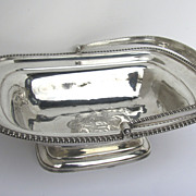 English Georgian Silver Swing Handle Basket by