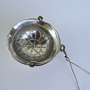European Hallmarked Silver Pierced Tea Spout Strainer