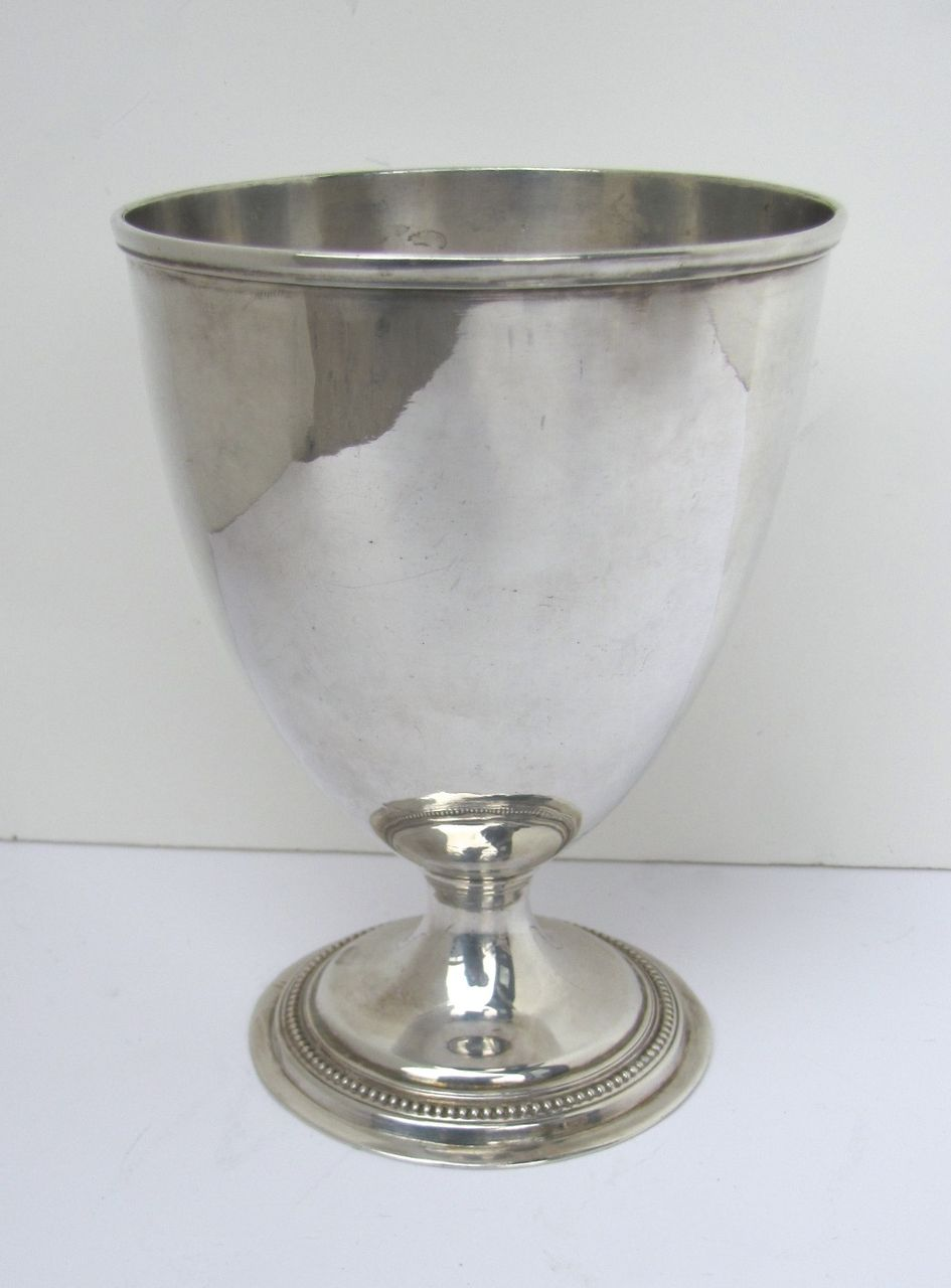 Early Sheffield Fused Plated Footed Goblet