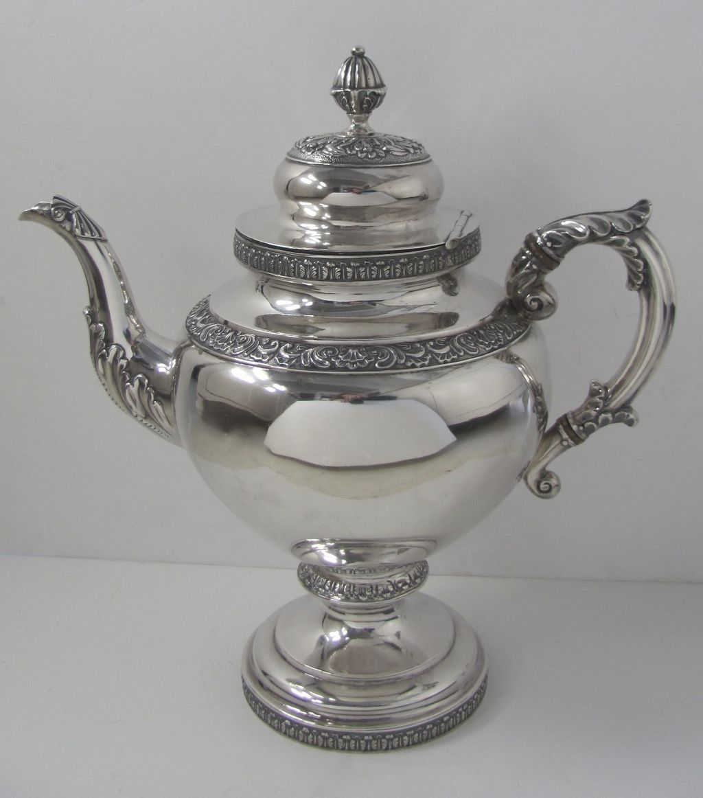 Silver Coffee Pot by R. W. Wilson, Philadelphia