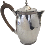 Old Sheffield Plate Pitcher Coffee Tea Pot
