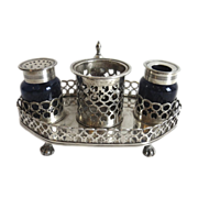 South American Silver Hallmarked 18th Century Inkstand Well