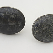Vintage Large Sterling Taxco Cufflinks