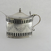 English Sterling Silver Mustard Pot by Charles Stuart Harris c 1891