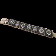 Vintage Persian Enamel Story Bracelet
