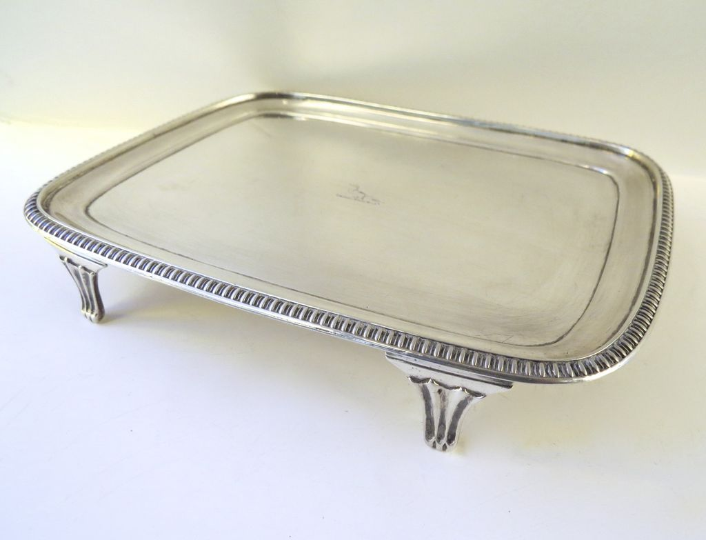 Irish Sterling Teapot Stand by James Scott c 1808