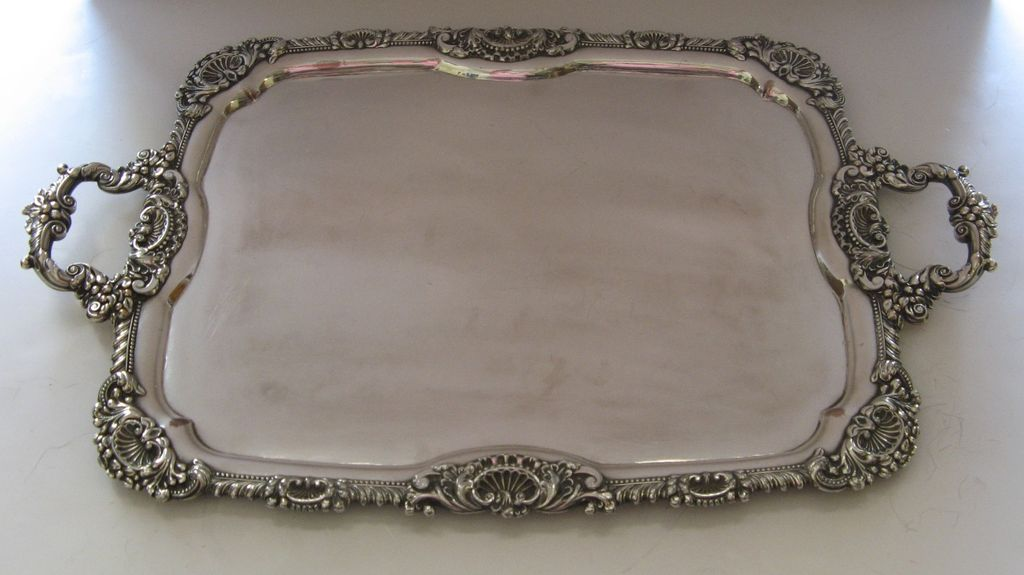 Sheffield Early Fused Plate Rectangular Tray