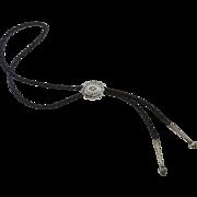 Vintage Sterling Bolo Concho Tie