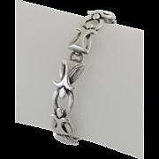 Vintage Jose Luis Flores, Taxco Sterling Silver Bracelet Links