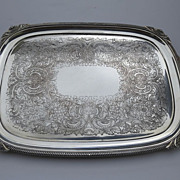 Ellis-Barker English Silver Plate Tray