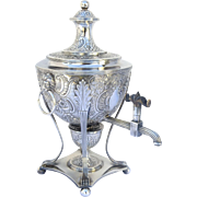 Hot Water Sterling Silver Urn by John Robins London 1779 Lions Heads