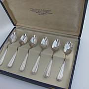 Vintage Italian Presentation Box Spoons 800 Fineness