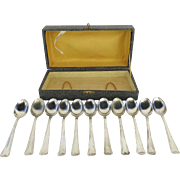 Set of Vintage Italian Italy 800 Silver Spoons