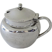 Mustard Pot Sterling Silver Fully Hallmarked Birmingham c 1939 H. Holland & Co.
