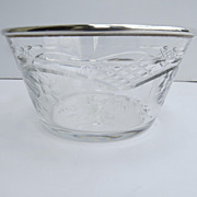 European Silver Hallmarked Rim Cut Crystal Bowl