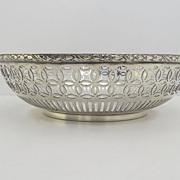 """Gorham Silver Soldered Pierced 6"""" Bowl c 1890"""