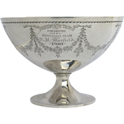 Sterling Silver Large Trophy Bowl by Frank Smith, Massachusetts c 1908