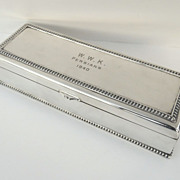 Quality Silver Plate Long Box Gadrooned