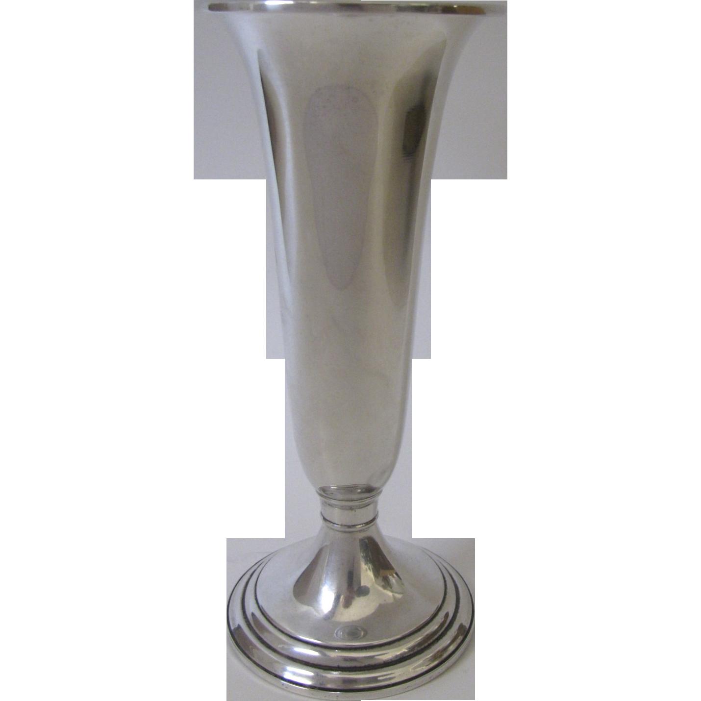 vintage gorham sterling silver trumpet vase from. Black Bedroom Furniture Sets. Home Design Ideas
