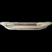 Early 19th  Century Sheffield Snuffer Tray Boat Shape