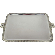 Large Gorham Sterling Rectangular Tray with Handles