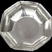Randahl Sterling Silver Planished Hammered Octangonal Bowl