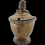 Gustave Keller, Keller Frères (Paris, 1881-1922) Mustard Condiment Pot Vermeil