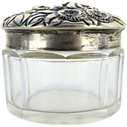 Small Sterling Silver and Glass Jar by the Frank M. Whiting Co.