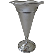 Sterling Silver Trumpet Vase by George A. Henckel & Co. New York c 1930