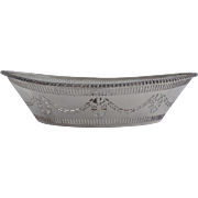 Silver Plated Pierced Bowl Basket Made in England for Gimbels Neo Classical
