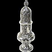 Large English Sterling Silver Hallmarked Muffineer Sugar Caster by Thomas Bradbury & Sons 1890's