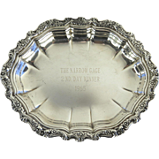 Trophy Small Oval Tray Countess International Silver Plate