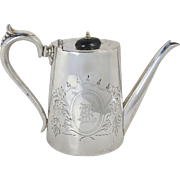 Teapot Silver Plate by S.Shiers & CO Manchester &  Blackpool England