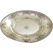 Sterling Silver Oval Bowl by Watson in Navarre Pattern c 1900