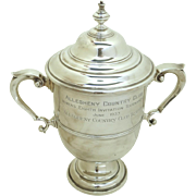 1930's Trophy Urn Cup Lidded by Grogan Pennsylvania Allegheny Country Club